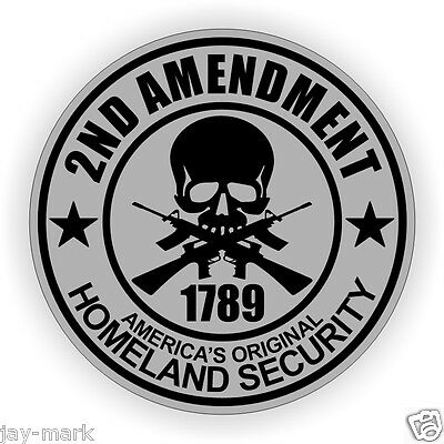 2nd Amendment Hard Hat Decal Sticker Window Stealth Label Tactical Black Ops