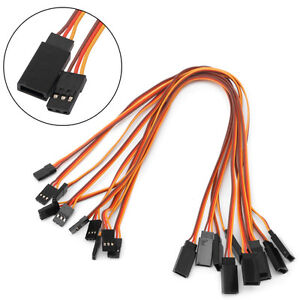 10Pcs 300mm Extension Servo Lead Wire Cable For RC Futaba JR Male to Female 30cm