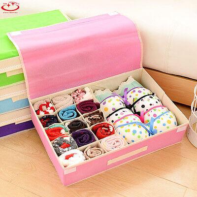 Underwear Storage Box Bra Container Foldable Ties Socks Closet Organizer (Socks Case)