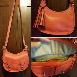 Leather Coach crossbody bag. Excellent condition