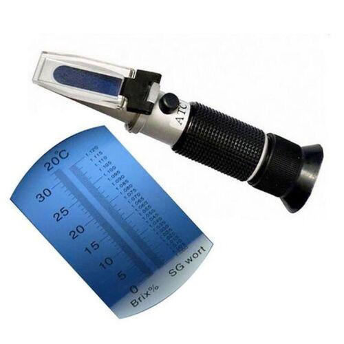 Handheld Milk Refractometer Dual Scale Alcohol Concentration Meter Beer Wort Kit