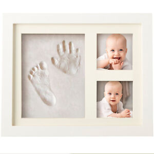 Baby Clay Handprint & Footprint Keepsake (with Picture Frame)