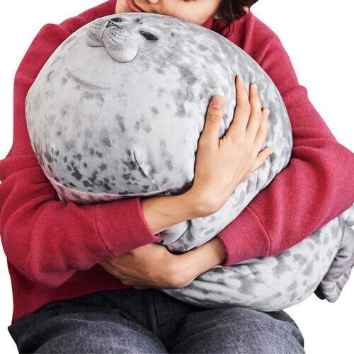 chubby blob seal plush animal toy ocean