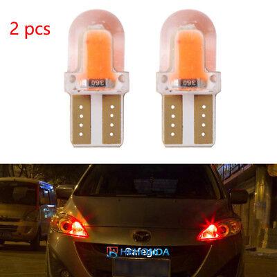 2pc T10 168 194 W5W COB Silica Gel Car LED Bulbs Lamp License Plate Light Red 86 Lamp Side Park Car