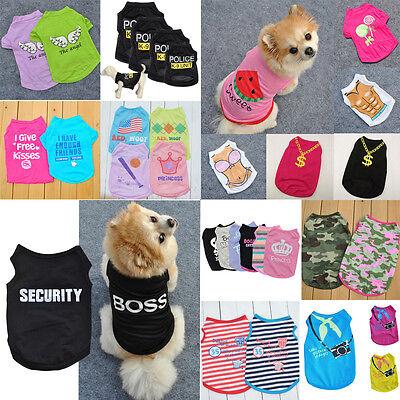 Various Pet Puppy Small Dog Cat Pet Summer Clothes Vest T Shirt Dress Apparel