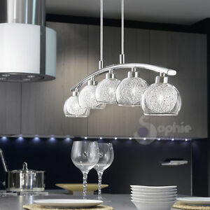 Lampadario-lampada-sospensione-design-moderno-acciaio-cromo-vetro-filo ...