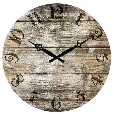 """15"""" Considerable Vintage Rustic Retro Antique Shabby Chic Wall Clock Home Kitchen Decor"""