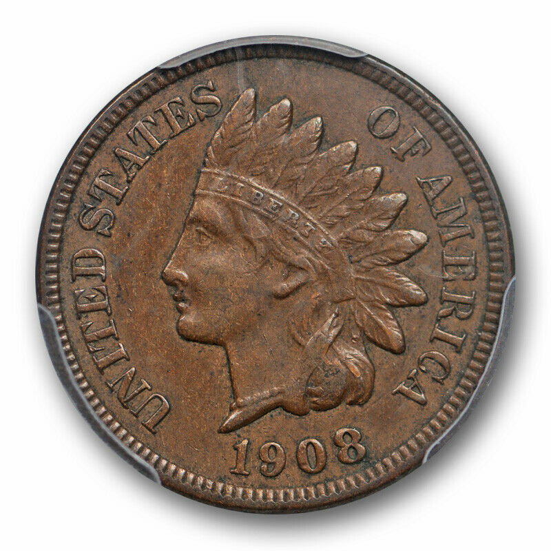 1908 S 1C Indian Head Cent PCGS XF 45 Extra Fine to AU Key Date San Francisco