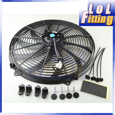 7 Inch 12V Reversible Electric Cooling Fan Curved S Blade Radiator Oil Cooler