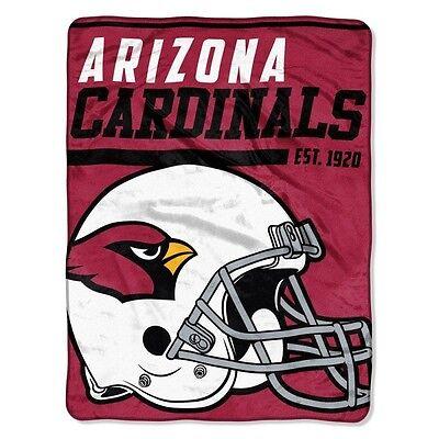 New NFL Arizona Cardinals Soft Micro Rasche Large Throw Blanket 46