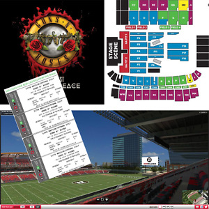 4 side x side Guns N' Roses tickets, TD Place Aug 21, $400 for 4