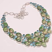 925 Silver Blue Topaz Necklace