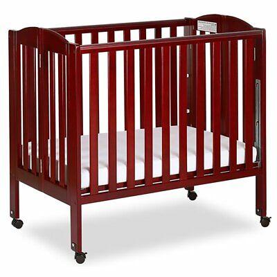 Portable Folding Convertible Crib, Cherry