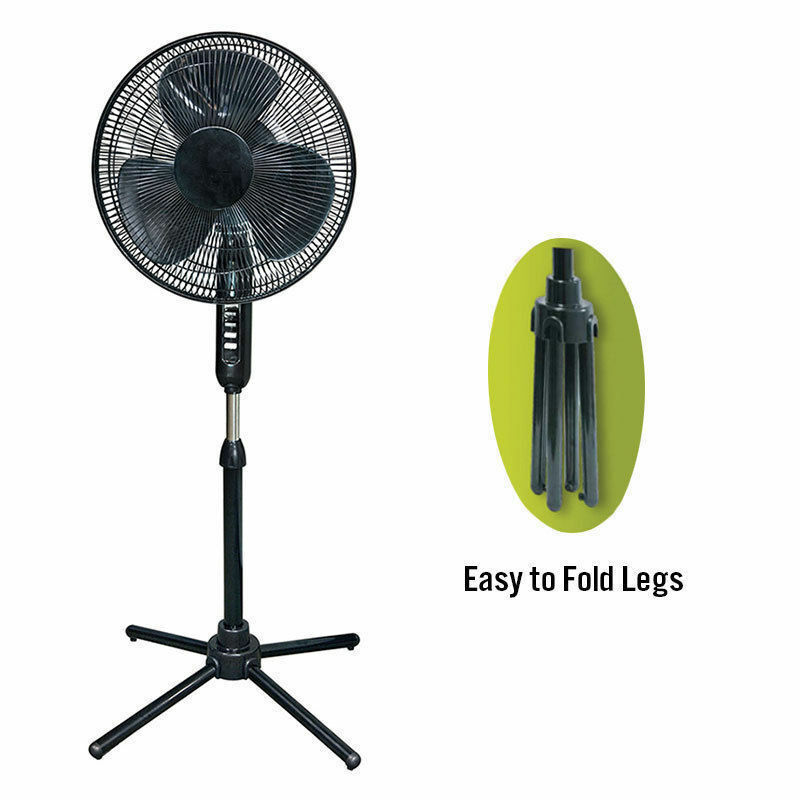Oscillating Pedestal 16-Inch Stand Fan Quiet Adjustable 3 Sp