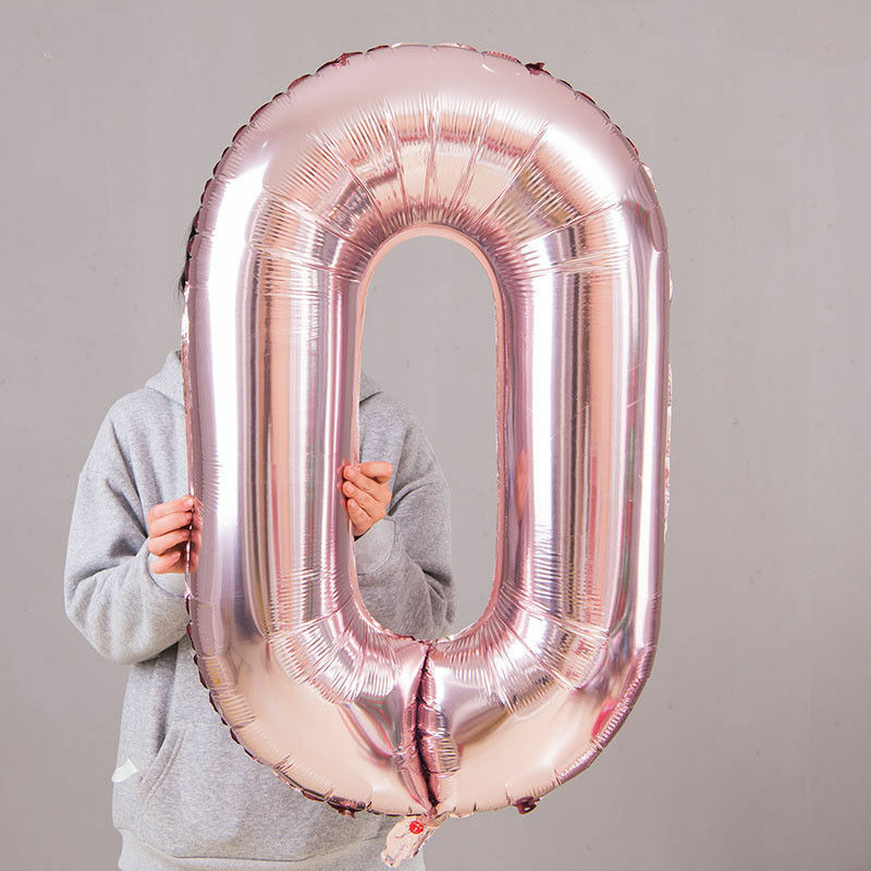 """Giant 32//40/"""" Foil Number Self Inflating Balloons Birthday parties wedding ballon"""