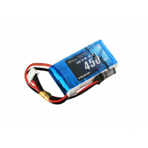 Gens ace 11.1V 450mAh 3S 25C/50C LiPo Battery Pack with JST