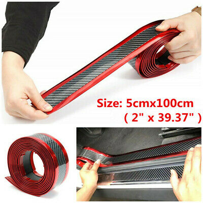 Car Interior Accessories Panel Black Carbon Fiber Vinyl Wrap Auto Door Sticker
