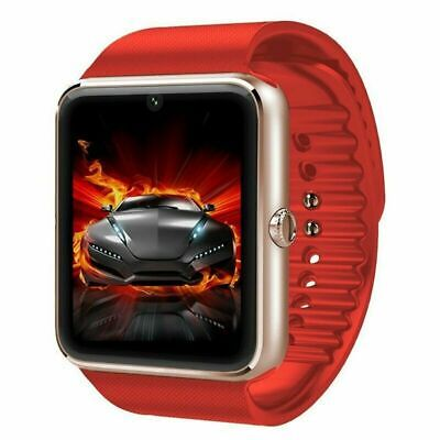 RED GT08 Bluetooth Smart Watch Phone Wrist Watch for Android and iOS US