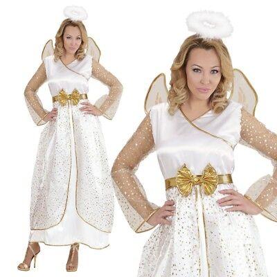Engel Kostüm für Damen Gr. L 42/44 Engelskostüm Komplett-Set Weihnachten #7713