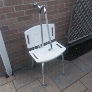 Shower chair and 2 hand rails