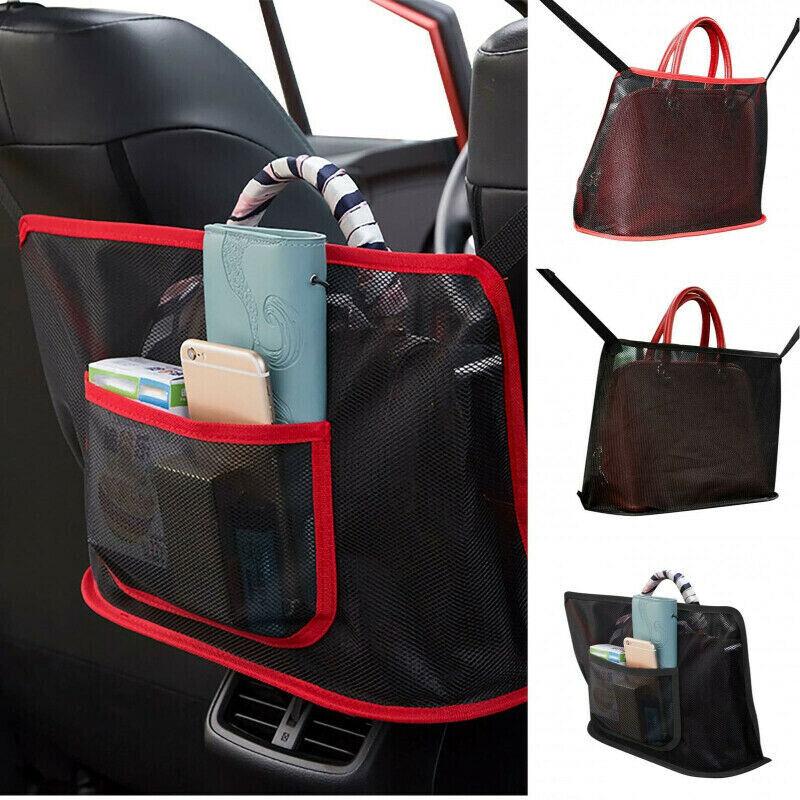 Advinced Car Net Pocket Handbag Holder Between Car Seat Storage Organizer Mesh