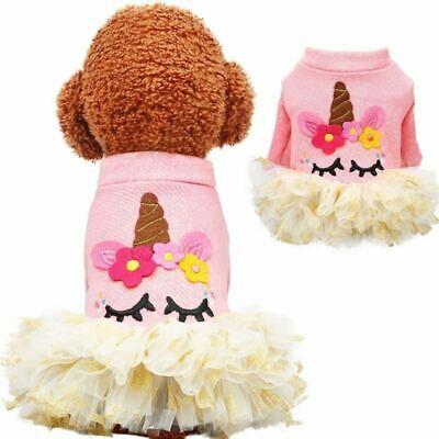 Pet Dog Cat Unicorn Dress Cosplay Puppy Costume Fancy Coat Party Outfits Cosplay](Unicorn Dog Costume)