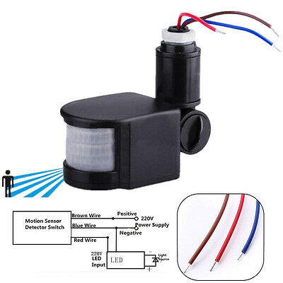 - Outdoor 180° Degree Security PIR Motion Movement Sensor Detector Switch 110-230V