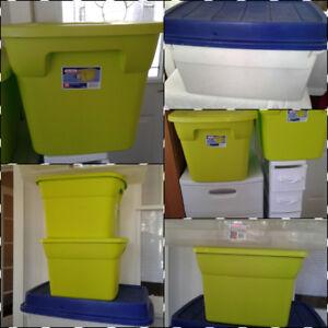 Various Sized Plastic Storage Boxes