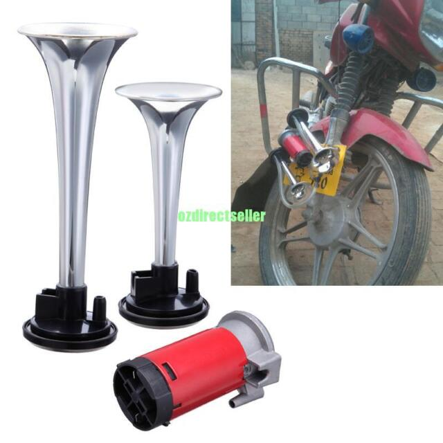 12V Super Loud Dual Trumpet Air Horn Compressor For Car Motorcycle Lorry