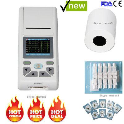 Contec Digital 12 Channel 12-lead Ecgekg Machine Electrocardiographpc Software