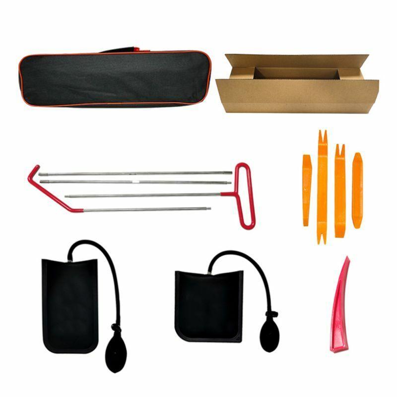 Car Door Lock Out Emergency Open Unlock Key Tools Kit Inflatable Air Pump Wedge