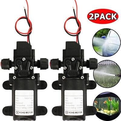 2x 12v Water Pump 130psi Self Priming Diaphragm High Pressure Automatic Switch U
