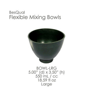 Dental Lab 3-pieces Flexible Green Mixing Bowl Set Large Size New