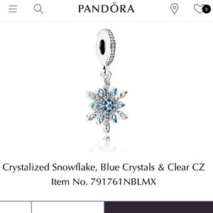 LOOKING TO BUY THIS CRYSTALIZED SNOWFLAKE PANDORA CHARM!