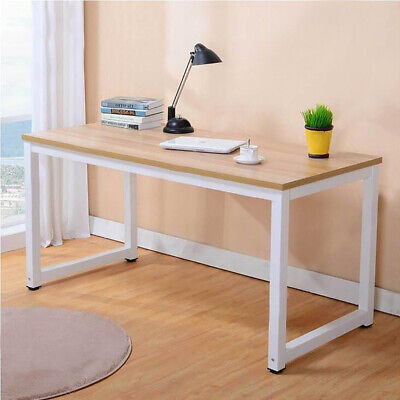 Wood Computer Desk Pc Laptop Study Table Workstation Home Office Furniture Large