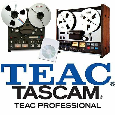 TEAC e TASCAM REGISTRATORE DI NASTRO BOBINA A UTENTE MANUALE MANUTENZIONE su CD - Tascam Nastro