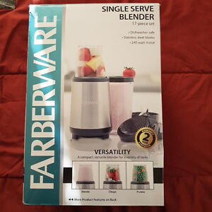 used once 17-piece single serve blender- missing one small cup