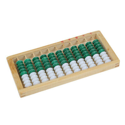 Wooden Framed 9-bead 11 Digits Abacus Counting Frame Kids Math Education A8B5
