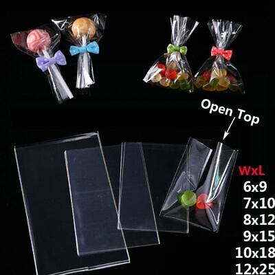 Clear Plastic Bags For Favors (Plastic Bags For Candy Lollipop Cookies Party Favor Poly Opp Clear Packaging)