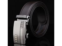 Men's belt car brand Audi. Exclusive leather belt, indispensable for any man.