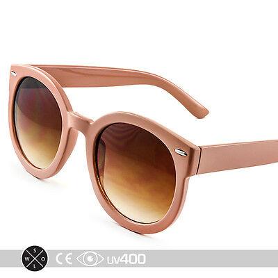 Nude Unisex Modern Nostalgic Round Circle Sunglasses P3 Indie Fashion (Nostalgic Sunglasses)