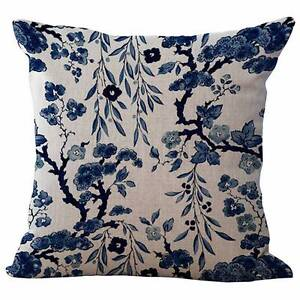 NEW 2 x Hamptons Chinoserie Floral Cushion Covers Pillow 45 x 45 Atwell Cockburn Area Preview