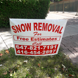 SNOW REMOVAL SENIOR DISCOUNT--- DOWNSVIEW AREA--