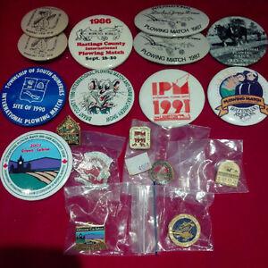 Vintage International Plowing Match Pin & Button Collection Kitchener / Waterloo Kitchener Area image 1
