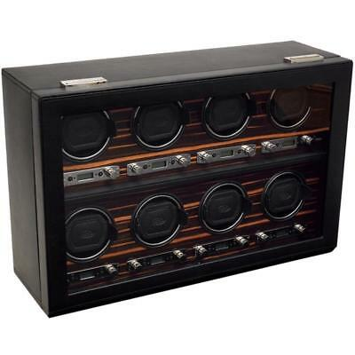 WOLF Roadster 8 Piece Watch Winder with Cover 459356 Free US