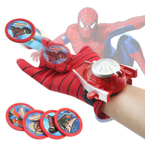 $7.99 - Kids Spiderman Ironman Batman Launcher Gloves Children Action Figure Toys Boys