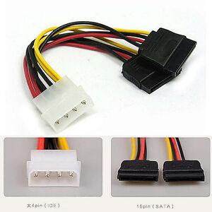 Cable-Adaptador-de-Alimentacion-Ide-Molex-a-Sata-Doble-para-Dos-Discos-SATA-SSD