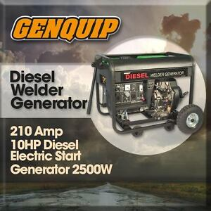 NEW Genquip Diesel 10HP Welder/Generator 210Amp Electric Start