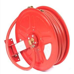 30 meters Red Retractable Fire Hose Reel Rewind Fire-prevention Pipe Reel (022309)