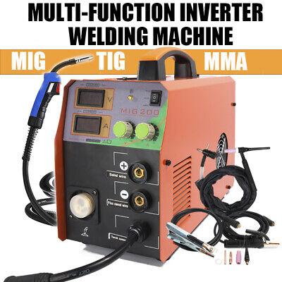 Mig 200 200a Inverter Mig Tig Mma Welder Gasless Mig Welding Machine Accessories